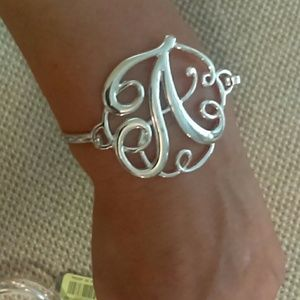 Jewelry - Silver Large A monogram bracelet